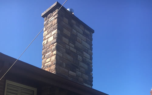 Cultured Stone Chimney