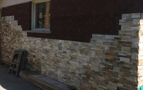 Cultured Stone on House